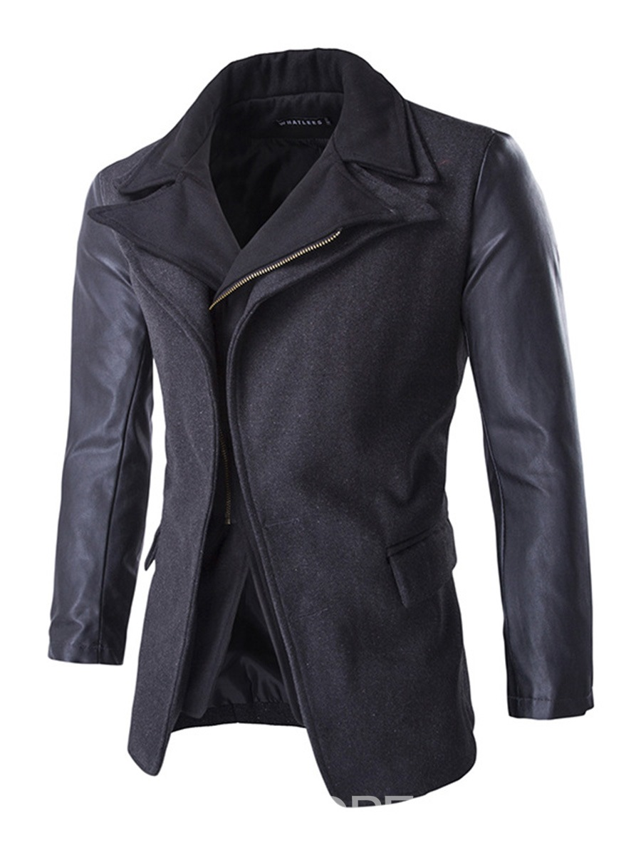 Ericdress Patchwork Double-Breasted Design Vogue Men's Jacket