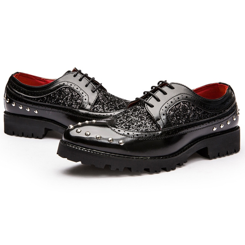 Ericdress Patchwork Rivets&sequins Men's Oxfords