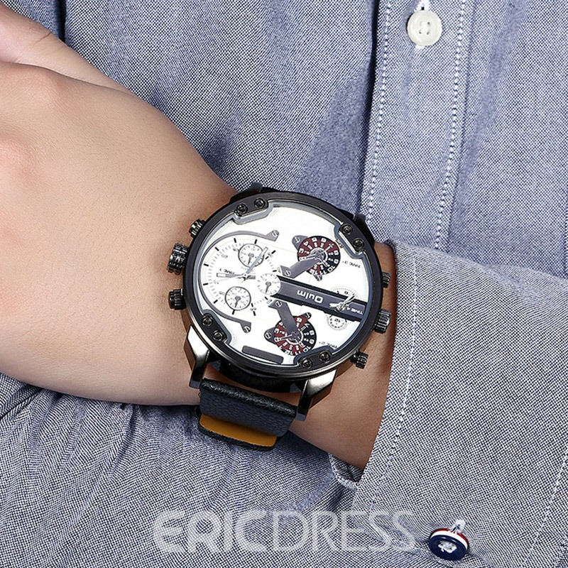 Ericdress Handsome Black Band Four Movement Men's Watch