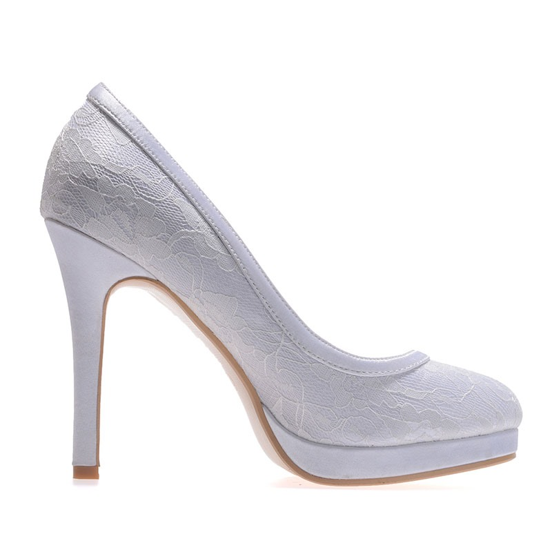Ericdress Simple Lace High Heel Wedding Shoes
