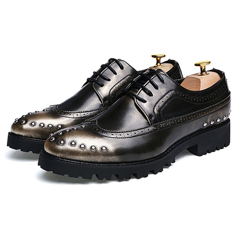 Ericdress Brush Off Rivets Men's Oxfords