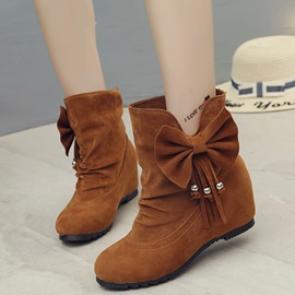 Ericdress Lovely Bowknot&tassels Ankle Boots