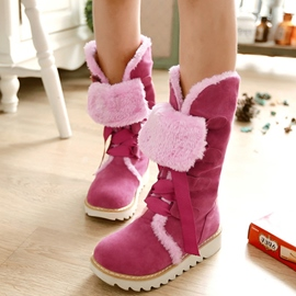Ericdress Lovely Girl Short Floss Snow Boots