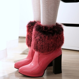Ericdress Warm Furry Chunky High Boots