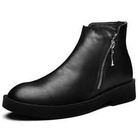 Ericdress PU Round Toe Lace up Men's Martin Boots