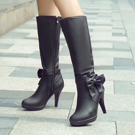 Ericdress Lovely Bowknot Knee High bottes