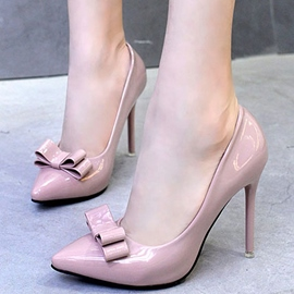 Ericdress Princess Bowtie Point Toe Stiletto Heel Pumps