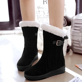 Ericdress warme Fell Quasten Winterstiefel