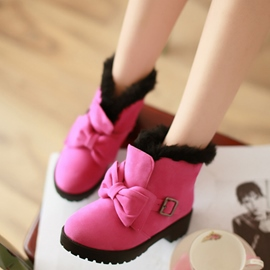 Ericdress Bright Color Bowtie Ankle Boots