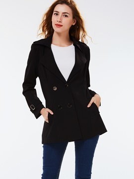 Ericdress Double-Breasted Slim Plain Blazer