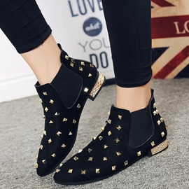 Ericdress Charming Rivets Point Toe Ankle Boots