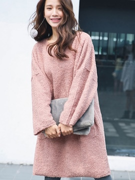 Ericdress Furry Shoulder sleeve Loose Casual Dress