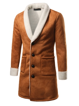 Ericdress Winter Style Mid-Length Thicken Warm Vogue Men's Coat