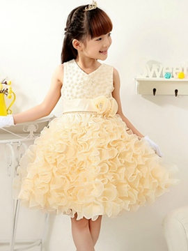 Ericdress Layered Lace Flower Girls Dress