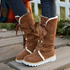 Chic Plush Flat Women's Snow Boots