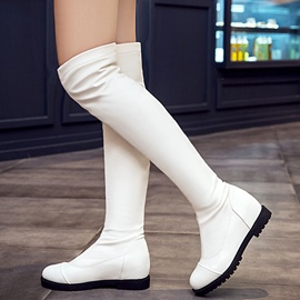 Ericdress Simple PU Over Knee High Boots