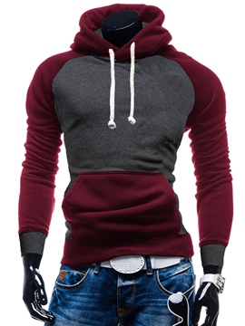 Ericdress Color Block Split Joint Casual Pullover Men's Hoodie