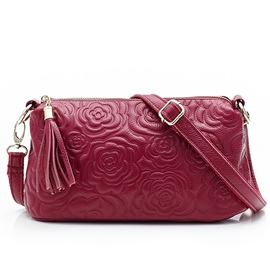 Ericdress Rose Embossed Mini Crossbody Bag