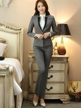 Ericdress OL Color Block Blazer Formal Suit