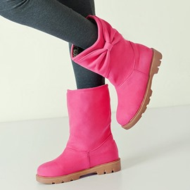 Ericdress Bright Color Bowknot Ankle Boots
