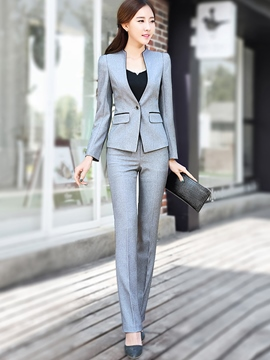 Ericdress Long Sleeve One Button Slim Blazer Anzug
