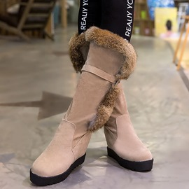 Ericdress Warm Fur Round Toe Knee High Boots