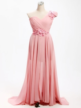Ericdress Beautiful One Shoulder Flowers A Line Bridesmaid Dress