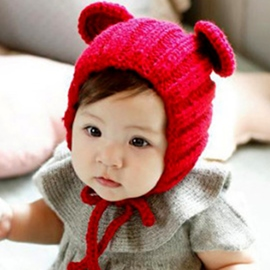 Ericdress Handmade Bear's Ear Fashion Hats for Kid