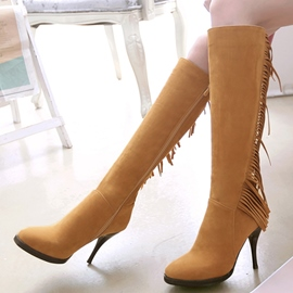 Ericdress Fashion Tassels Point Toe Knee High Boots
