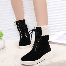 Ericdress Sweet Suede Lace up Ankle Boots
