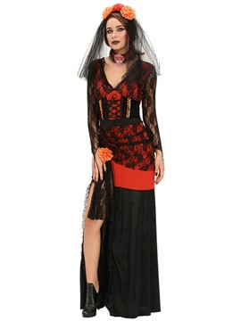Ericdress Lace Slit Sexy Witch Cosplay Halloween Costume