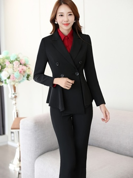 Ericdress OL Double-Breasted Blazer Formal Suit