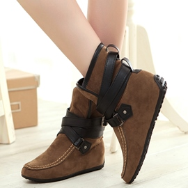 Ericdress Pretty Patchwork Buckles Ankle Boots