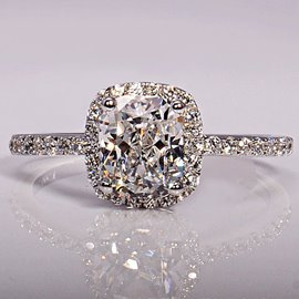 Ericdress Shining 1.01CT Princess Cut Wedding Ring
