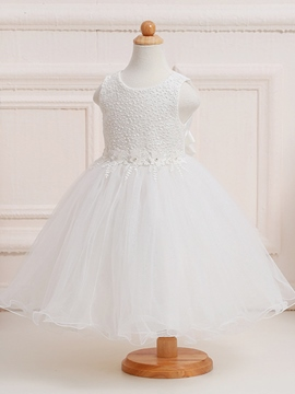 Ericdress Sequins Lace Sleeveless Girl Tutu Dress