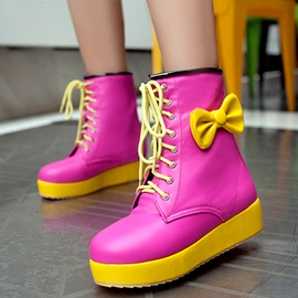 Ericdress Bright Color Lovely Bowtie Ankle Boots