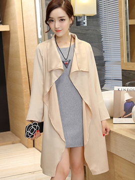 Ericdress Solid Color Sweater Dress Leisure Suit