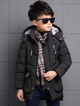 Ericdress Hooded Solid Color Boys Down Coat