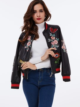 Ericdress Floral Embroidery Jacket
