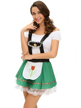 Ericdress Pleated Patchwork Lovely Beer Girl Cosplay Halloween Costume