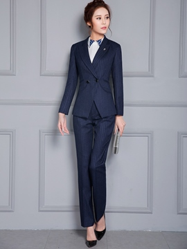 Ericdress OL Stripe Two-Piece Formal Suit