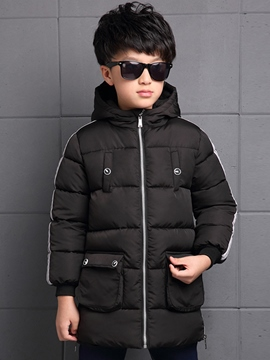 Ericdress Hooded Plain Boys Down Coat