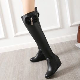 Ericdress Metal Tassels Elevator Heel Thigh High Boots