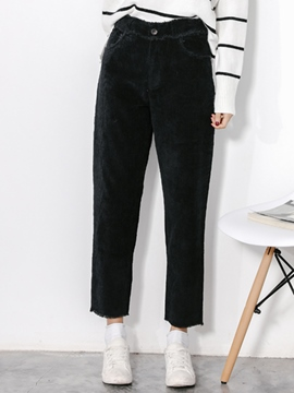Ericdress Corduroy Straight Loose Casual Pants