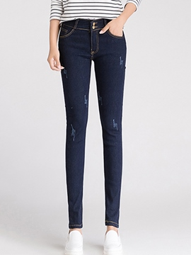 Ericdress Slim Full Length Jeans