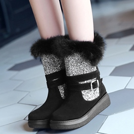 Ericdress Sequins Patchwork Snow Boots