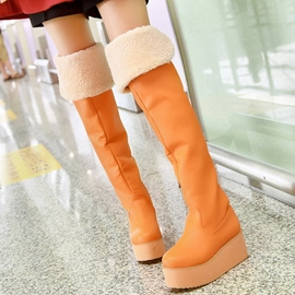 Ericdress Bright PU Platform Thigh High Boots