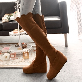 Ericdress Falbala Knee High Boots