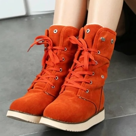 Ericdress Lovely Suede Mid-calf Snow Boots