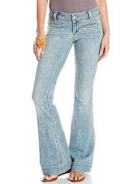 Ericdress Low-Waist Slim Washable Bellbottoms Jeans